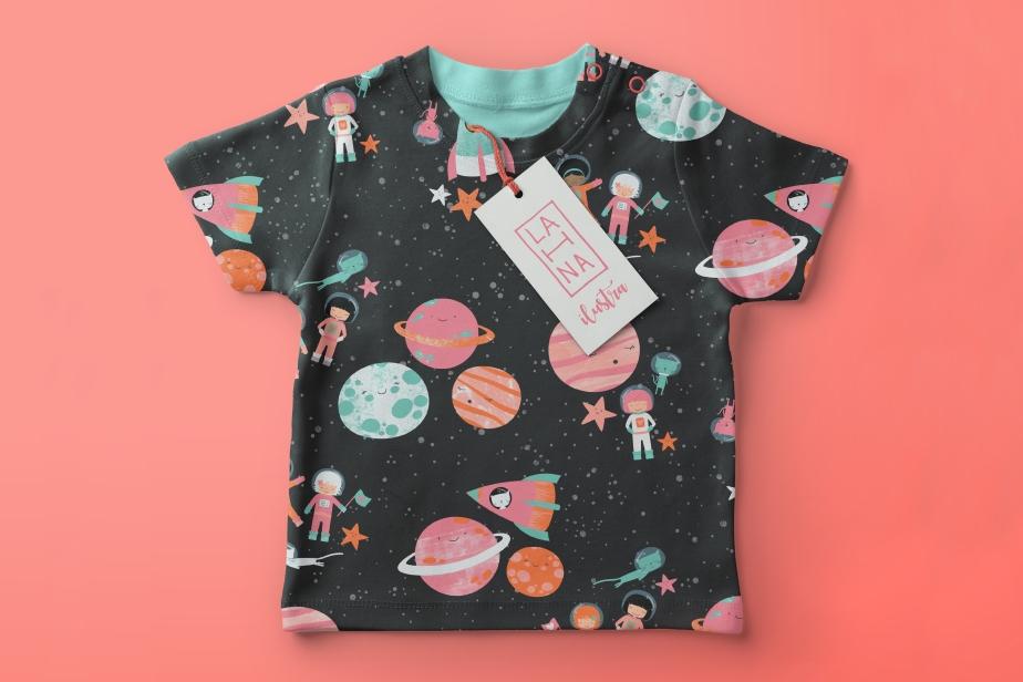 Baby-T-Shirt-Mockup princess astronaut c